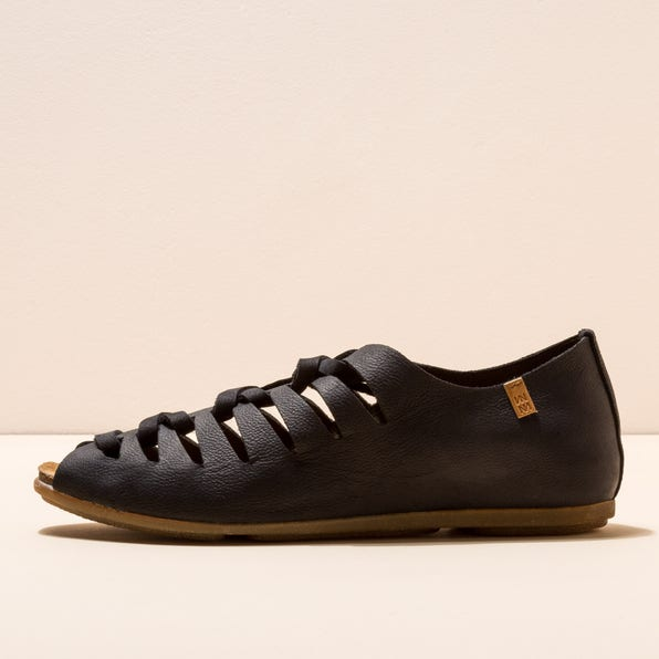 ND52 CRUST LEATHER BLACK/ STELLA